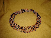 Collar doble de cobre y azabache