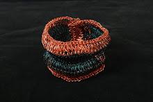 Pulsera combinada de cobre verde y rojizo