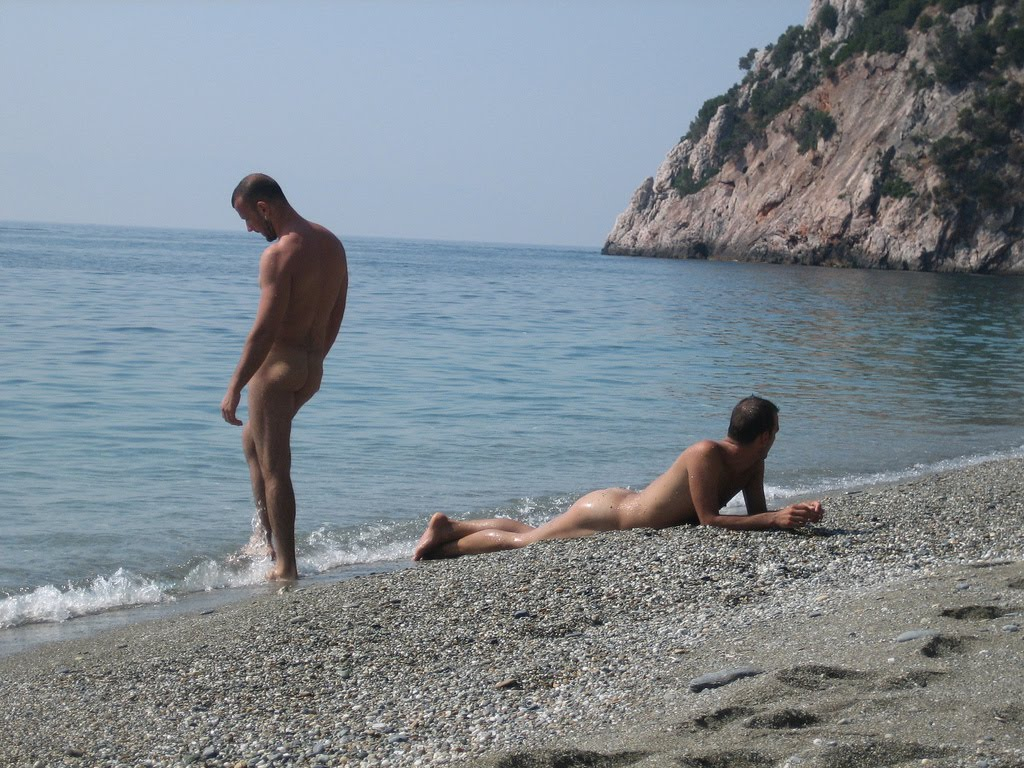 Naked Men on the Beach. Posted by hothardcock at 10:31 AM