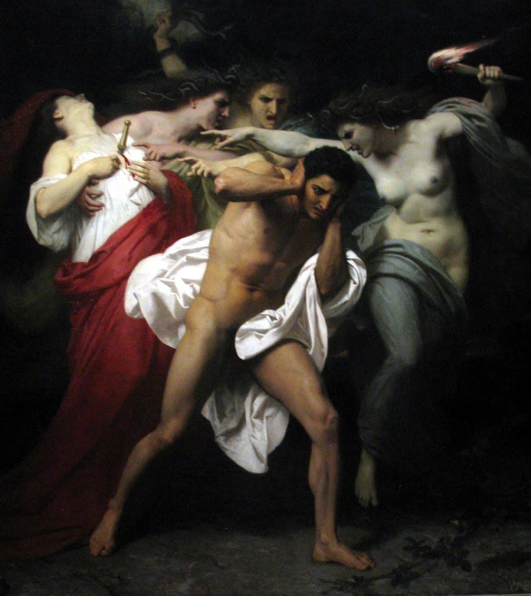 clytaemnestra's composure and orestes' regrets