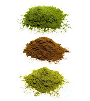 And here you can see some special Japanese green tea powders that we have such as Sencha Powder, Hojicha Powder, and Genmaicha Powder