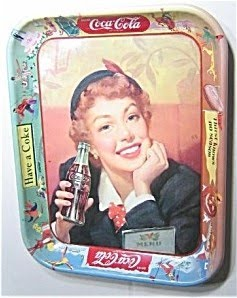 Vintage Coke Tin Tray Coca Cola 1950's Original