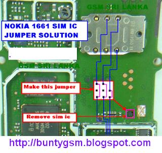 NOKIA 1661 SIM IC JUMPER