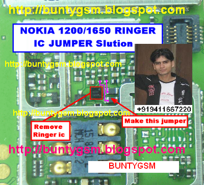 Nokia 1200, 1208, 1209, 1650 Ringer IC Solution ~ IMET Mobile