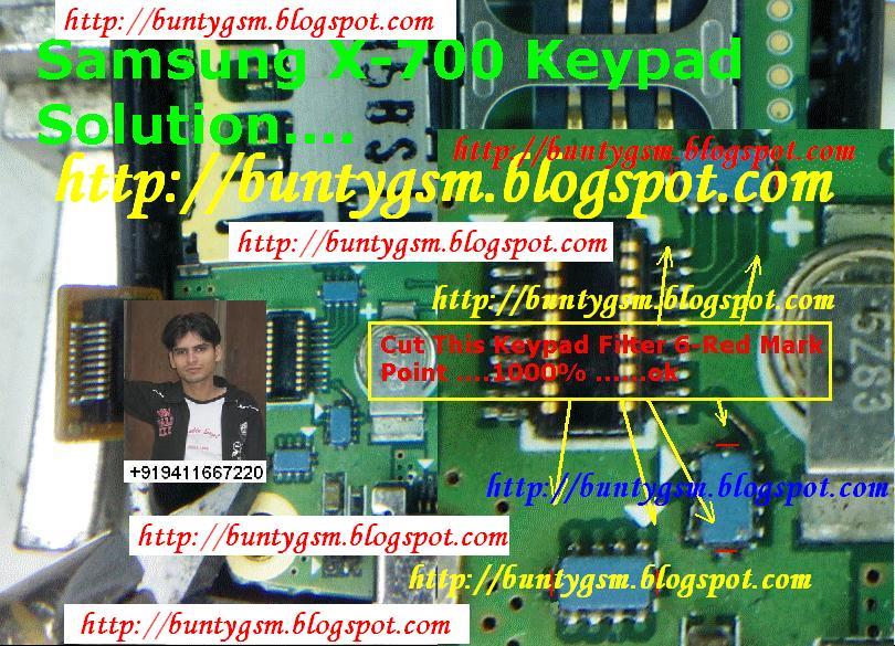 Samsung X700 Keypad Solution By BUNTYGSM