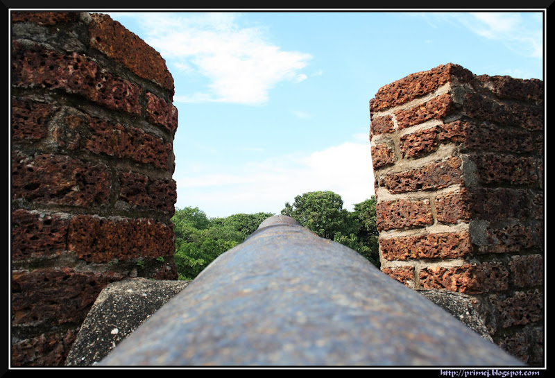 A cannon at the St. Angelo Fort, Kannur, Kerala