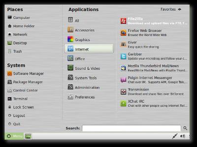 Linux Mint 10 Julia RC Thumb_mintmenu3