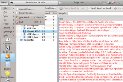 Kubuntu 10.10 Maverick Meerkat Global_menu-wee
