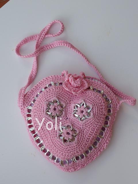 Manualidades merrajo yoli bolso de ganchillo con for Manualidades de ganchillo bolsos