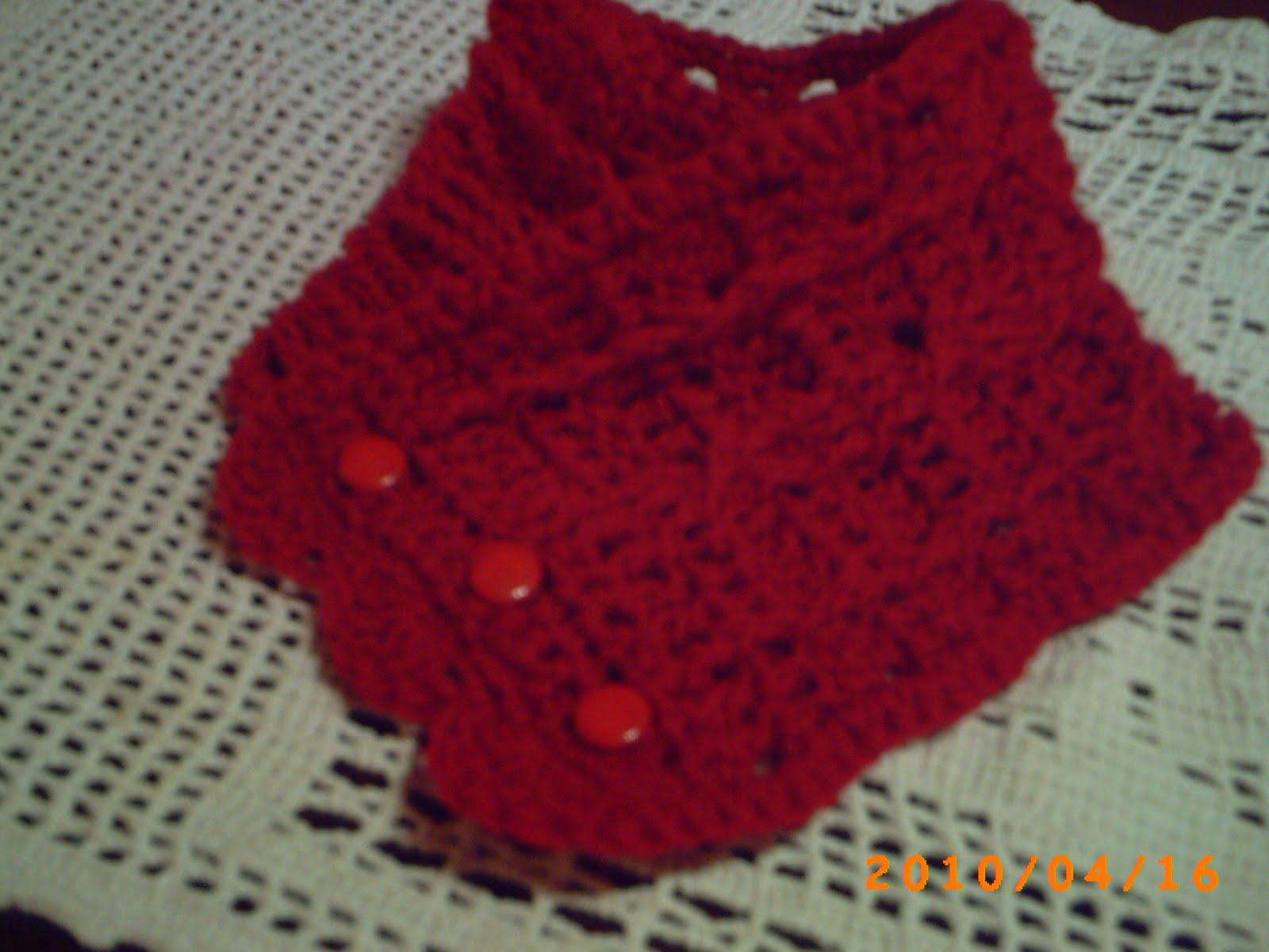 hermoso cuello tejido a crochet en pap en el el blog de