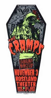 The Cramps, typical poster