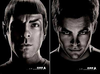 Spock and Kirk posters for Star Trek (2009)