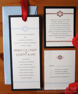 Rebecca Joe Winter Wedding Invitations