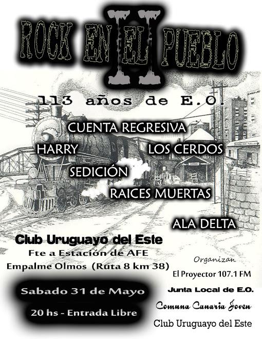 Afiche Rock En El Pueblo II