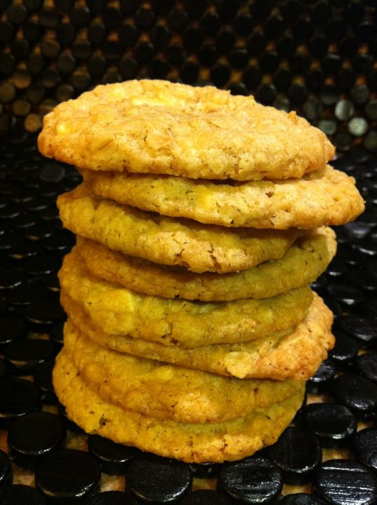 ... is for butter lovers.: Crispy Salted Oatmeal White Chocolate Cookies