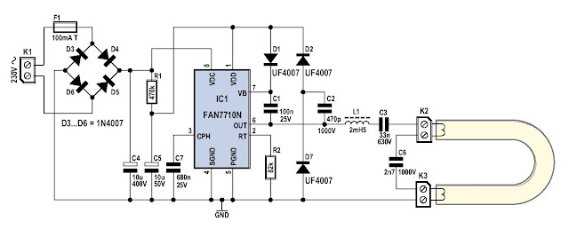my electronic circuits free electronic circuit energy saving lampsBallast Control Schematic Circuit For Energy Saving Lights Bulbs Using #3