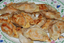 Pork, shrimp and chinese chive dumplings