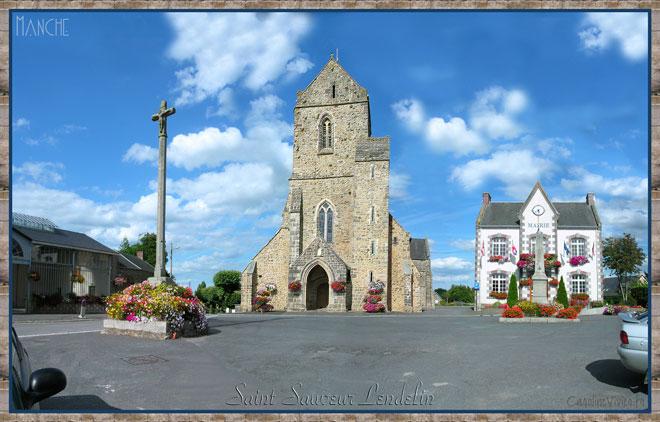 Eglise de Saint Sauveur Lendelin et Mairie