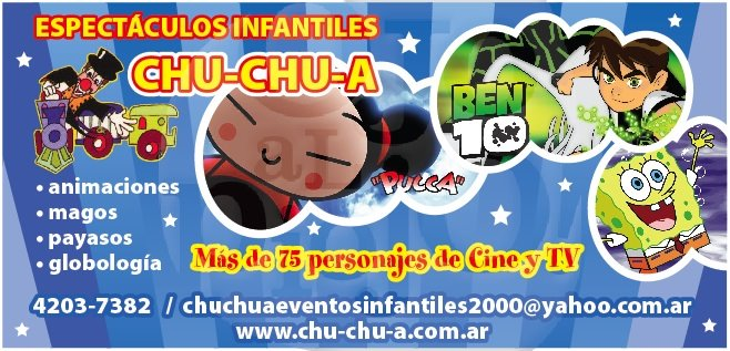 ANIMACION INFANTIL CHUCHUA
