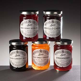 Tiptree Jams Conserves Gg on cream kitchen pantry