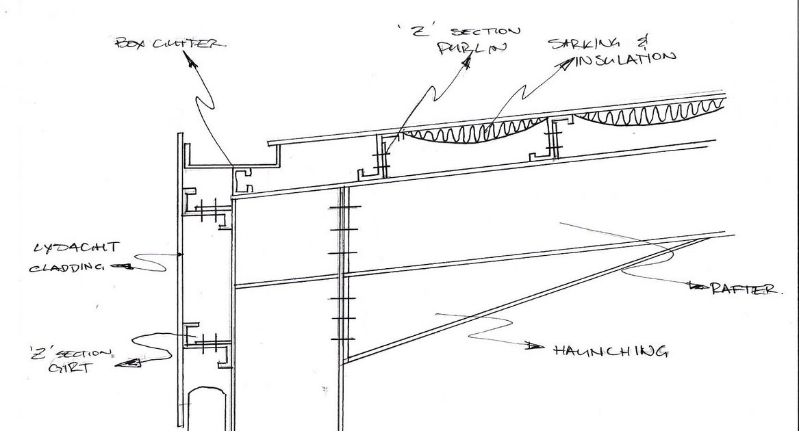 Poup S Construction Blog Portal Frame Section Hand Drawn