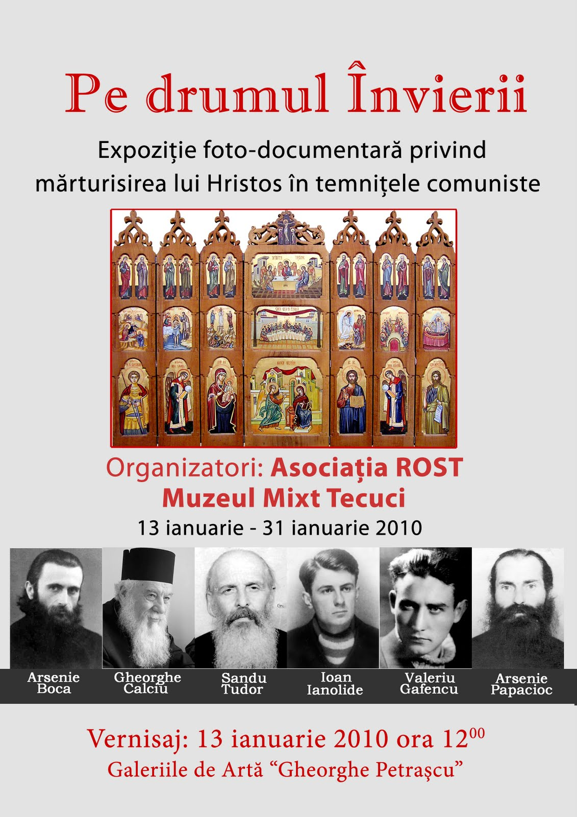 """Expoziţia """"Pe drumul Învierii"""" a ajuns la Tecuci"""