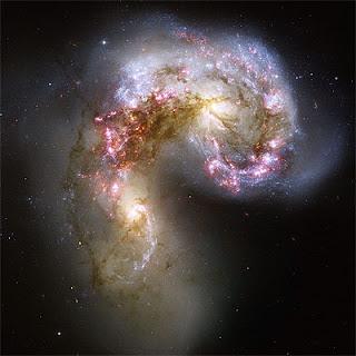 Choque de galaxias - Imagen del Hubble