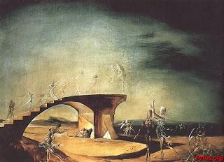 El puente roto y el sueño - Salvador Dalí 1945
