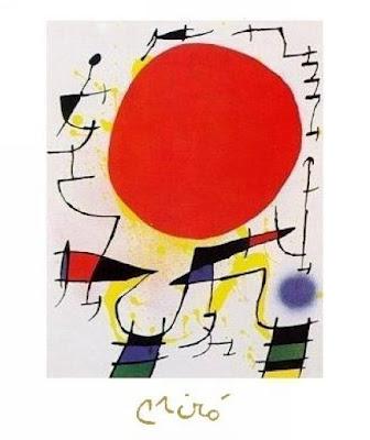Le soleil rouge - Joan Miró