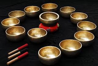 Escala menor de cuencos tibetanos
