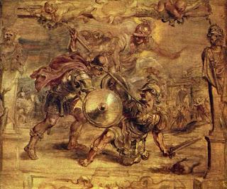 Muerte de Héctor por Aquiles - Pedro Pablo Rubens