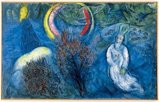 La zarza de Horeb - Marc Chagall