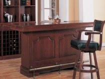Traditional Cherry Finish Bar Unit W/wine Rack Sink Drawers