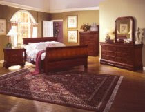 Louis Philippe Cherry Wood Sleigh Queen Size Bed