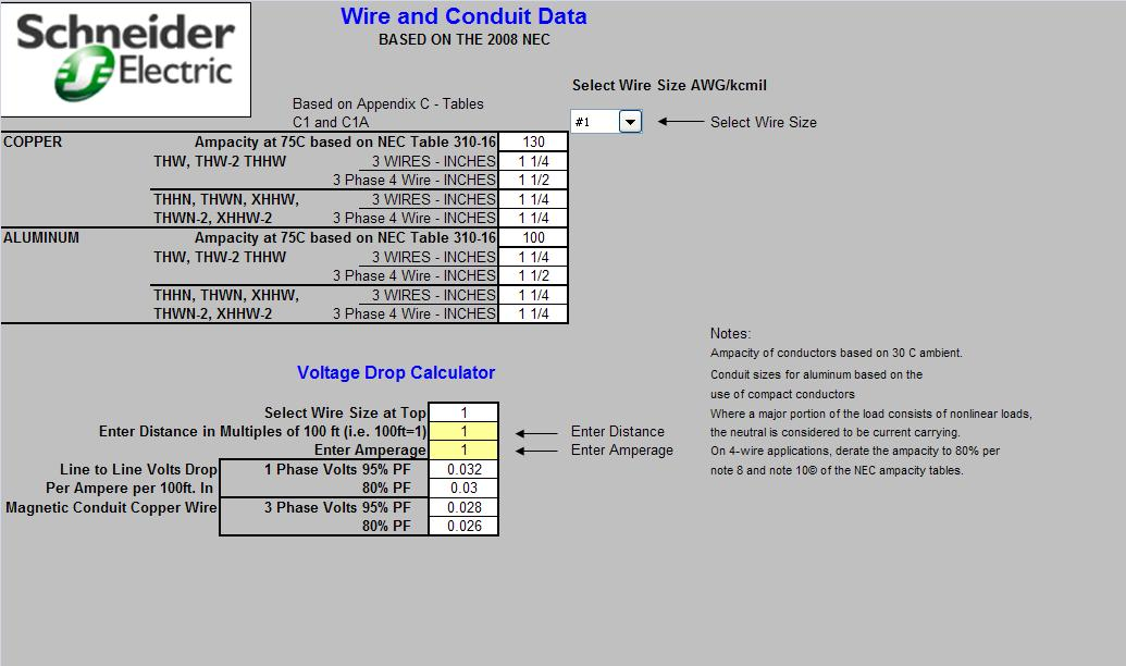 Electrical Calculations Sheet -Motor ~ Electrical Knowhow