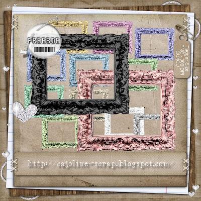 Freebie - Baroque Frames - CU4CU Cajoline_barocframes_preview