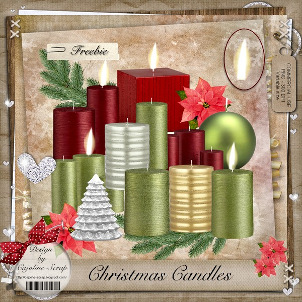 CHRISTMAS CANDLES CU Cajoline_christmascandles_pv