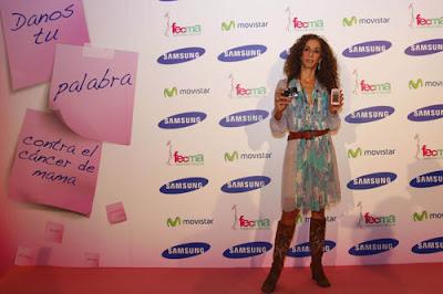 Rosario Flores y Samsung en su ayuda contra el cáncer de mama