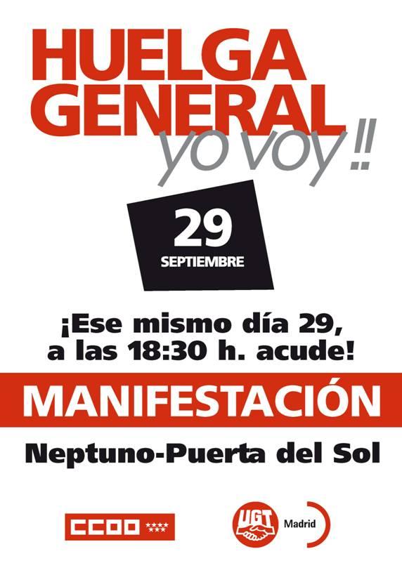 Ugt mara on 29 s 18 30 horas manifestaci n neptuno for Hora puerta del sol