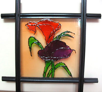 Glass paintings for an artistic home decor furniture gallery for Mural glass painting