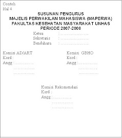 contoh struktur MAPERWA