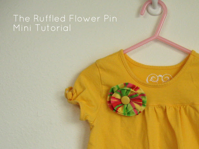 crafts lessons: ruffled flower pin