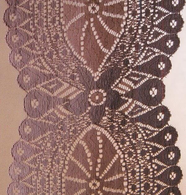 Warp Knitting Pattern Puristically Stylish Rosette Design ~ WarpKnitting4u.com