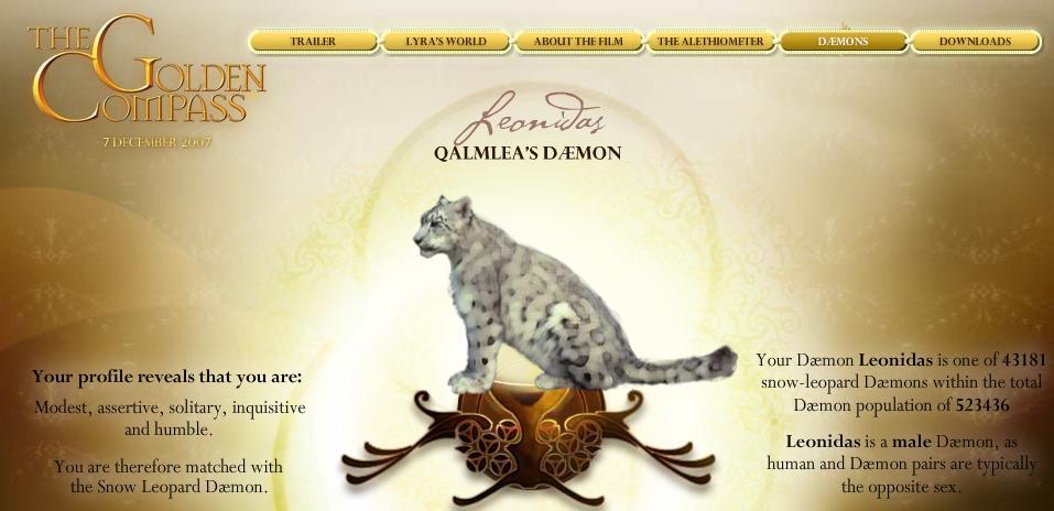Golden compass daemon quiz okcupid dating 10