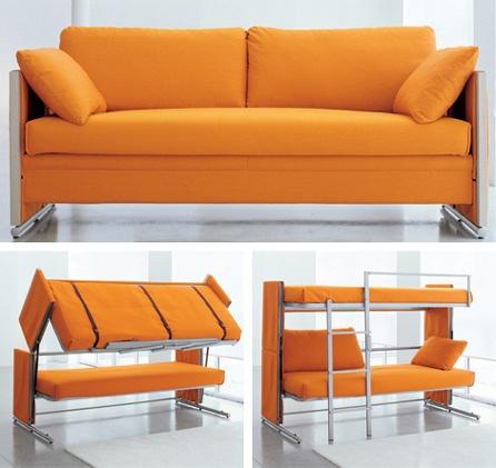 Sofa Converts to Bunk Beds