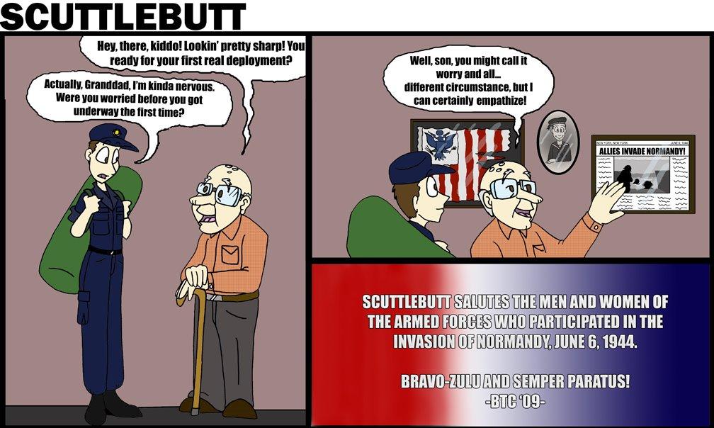 Coast Guard Scuttlebutt comics are drawn by PA3 B. Patton
