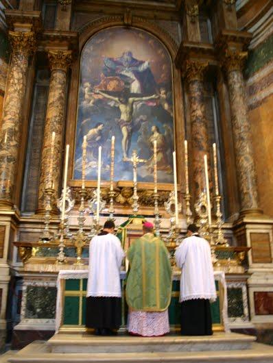 Image result for photos of the church of santissima trinita dei pellegrini rome italy