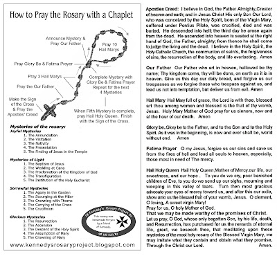 Kennedys Rosary Project How To Pray The Rosary With A Chaplet