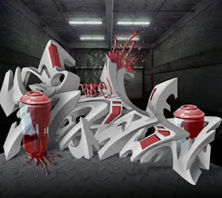 3d Graffiti Fonts examples Graffii Font graffiti font