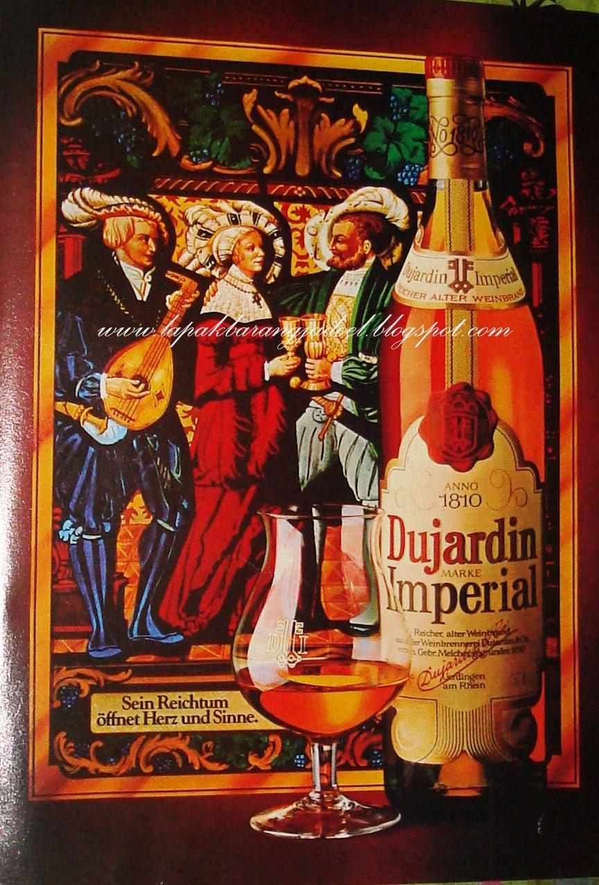 Lapak barang jadoel lbj iklan kertas minuman dujardin for Dujardin imperial